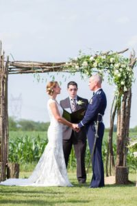 twig arbor ceremony backdrop