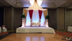 pipe and drape wedding arbor in columbus ohio at advantage events