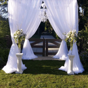 wedding arbor in columbus ohio at wells barn advantage events
