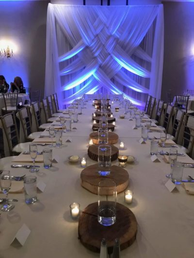 wedding decor at greek orthodox church in columbus ohio with advantage events