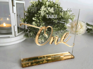 table numbers and event decor in ohio at advantage events