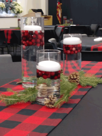 holiday party decor in columbus ohio at advantage events