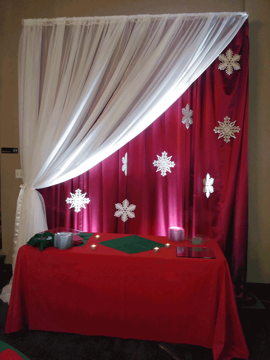 christmas party decor in columbus ohio at advantage events