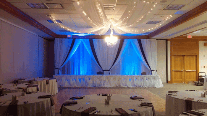 cinderella table skirting in columbus ohio at advantage events
