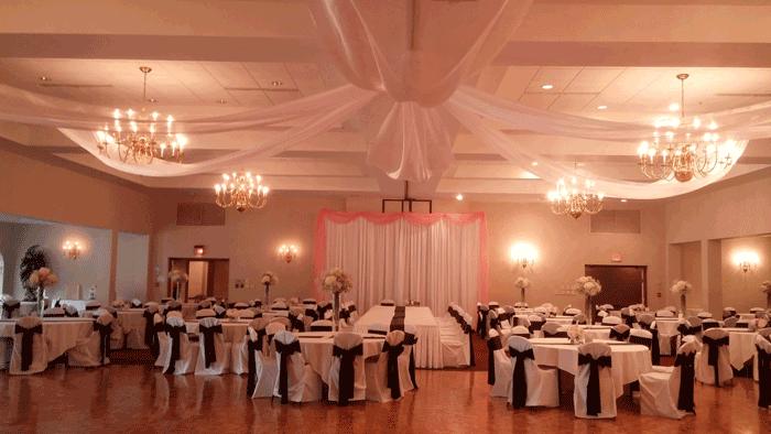 greek orthodo wedding decor in columbus ohio at advantage events