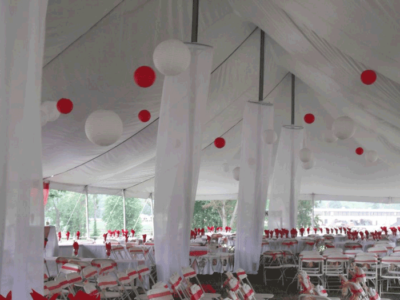 outdoor wedding decor in ohio at advantage events