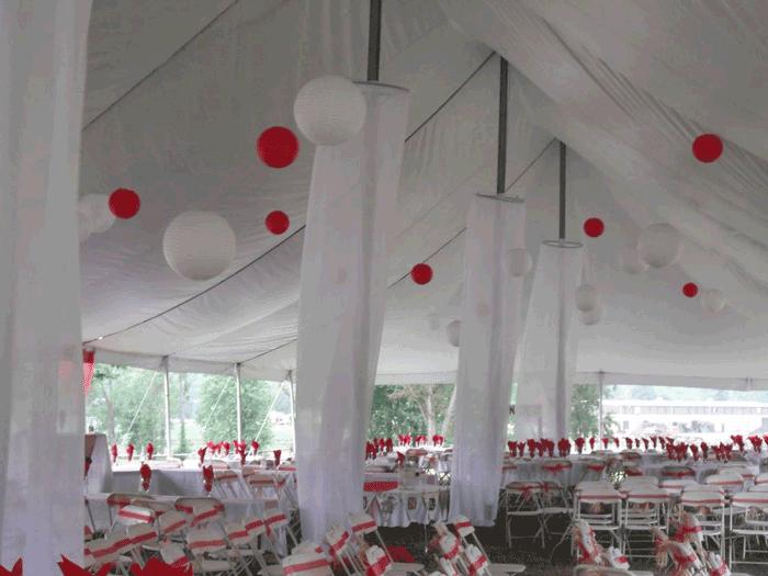 outdoor wedding decor in ohio at advantage events