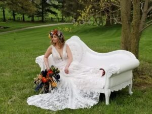 white sofa for weddings for rent in columbus ohio