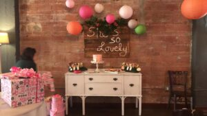white decor table event rental columbus ohio